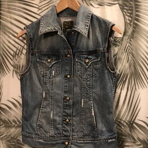 LUCKY BRAND cutest denim vest ever!!